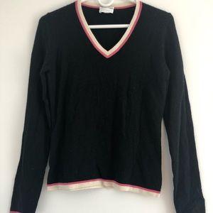 Charter Club Small Black Cashmere V-Neck